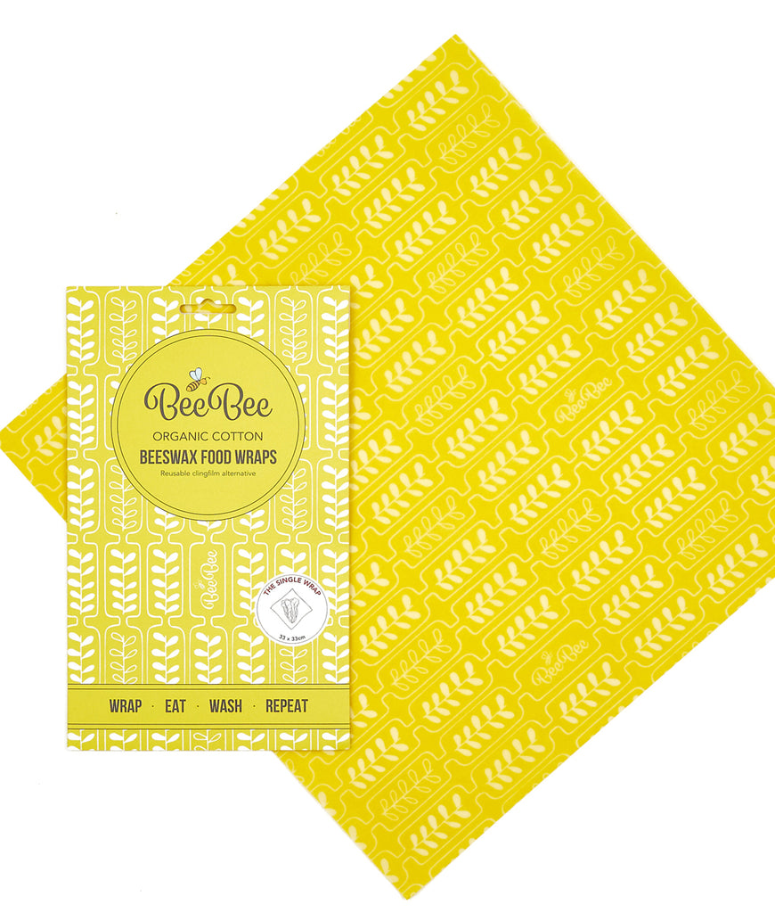BeeBeeWraps Wax x1 Single Pack - Wheat