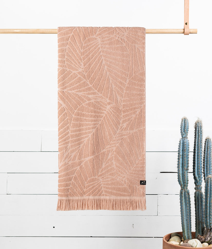 Slowtide Bath Towel - Clay Kalo