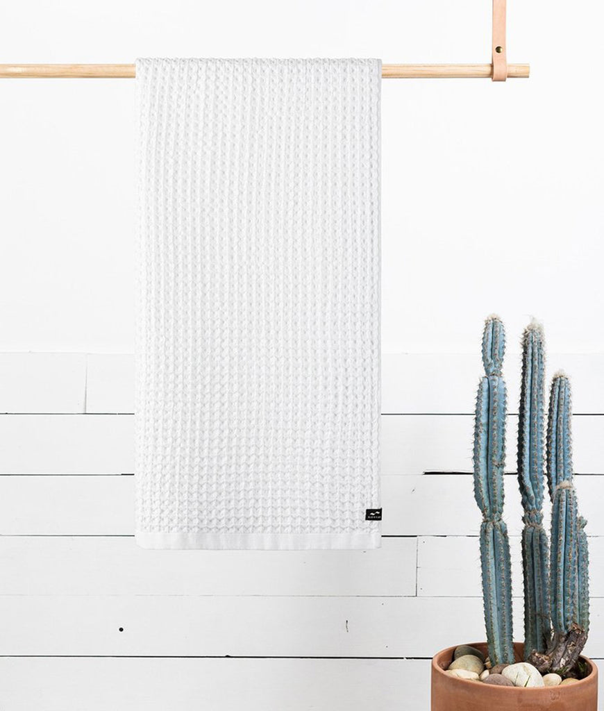 Slowtide Bath Towel - White Guild