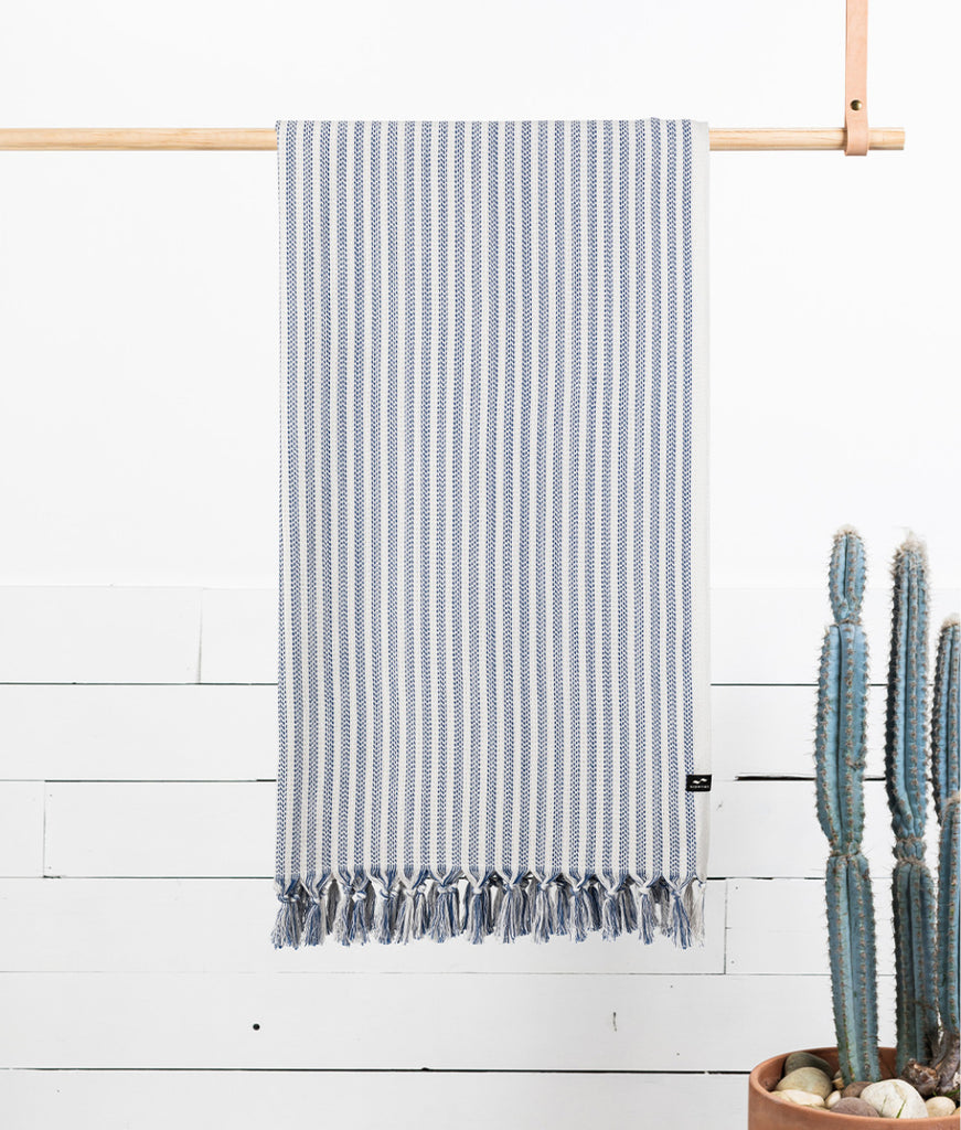 Slowtide Beach Towel - Navy Koko