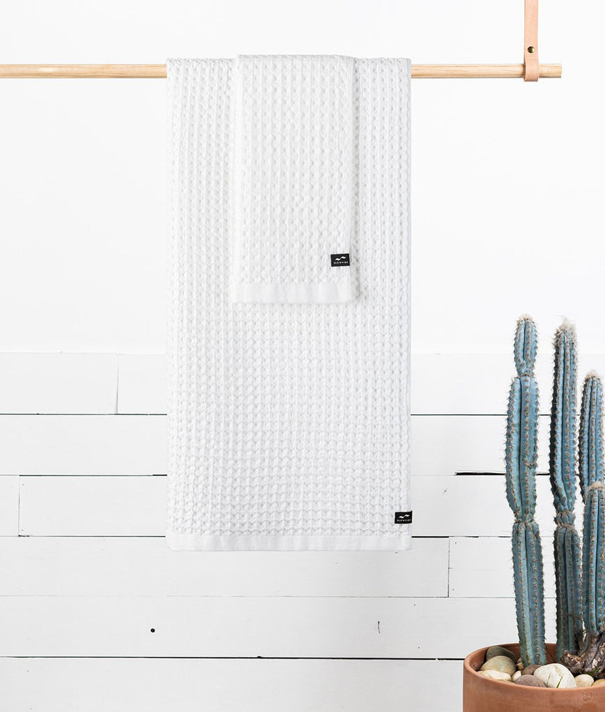 Slowtide Hand Towel - White Guild