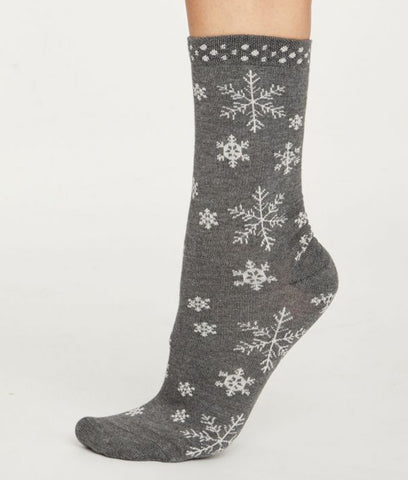 Thought Clothing Snowflake Ethical Socks - Grey