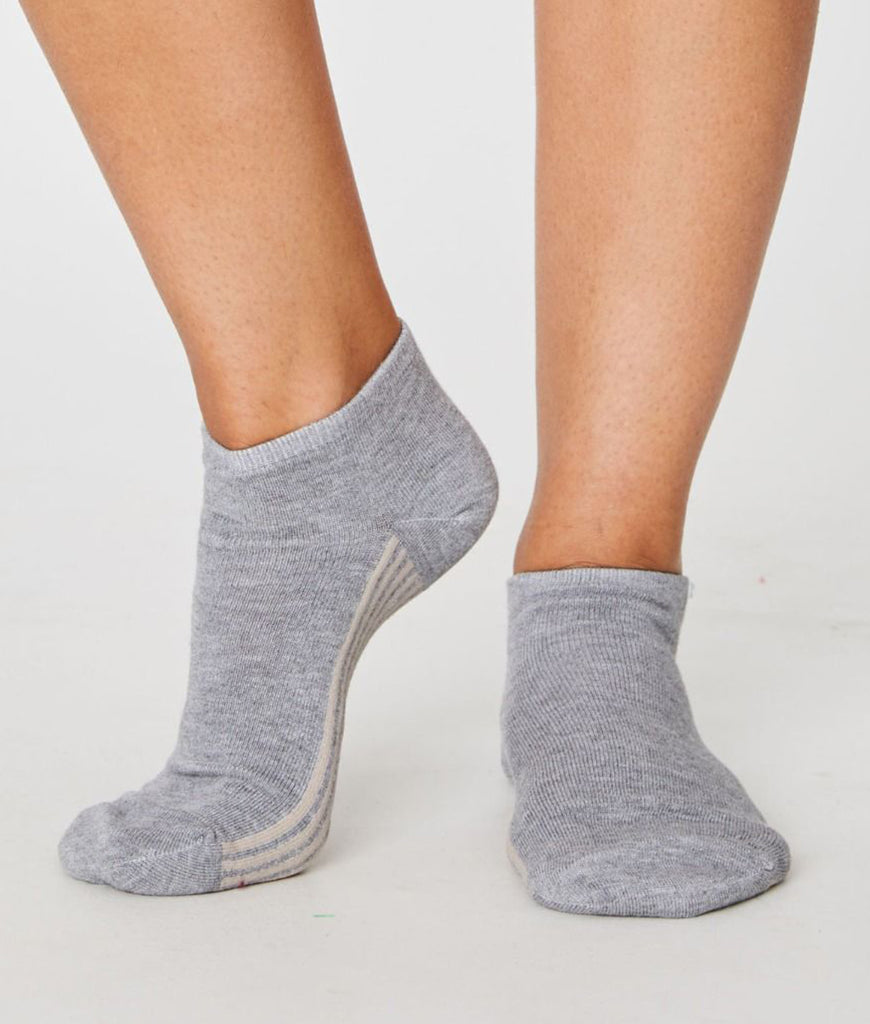 Thought Clothing Solid Jane Ankle Socks - Grey
