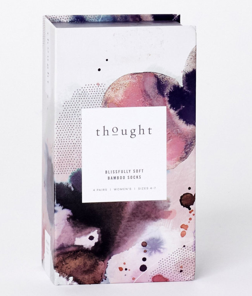 Thought Clothing Spot & Stripe Bamboo Sock Gift Box