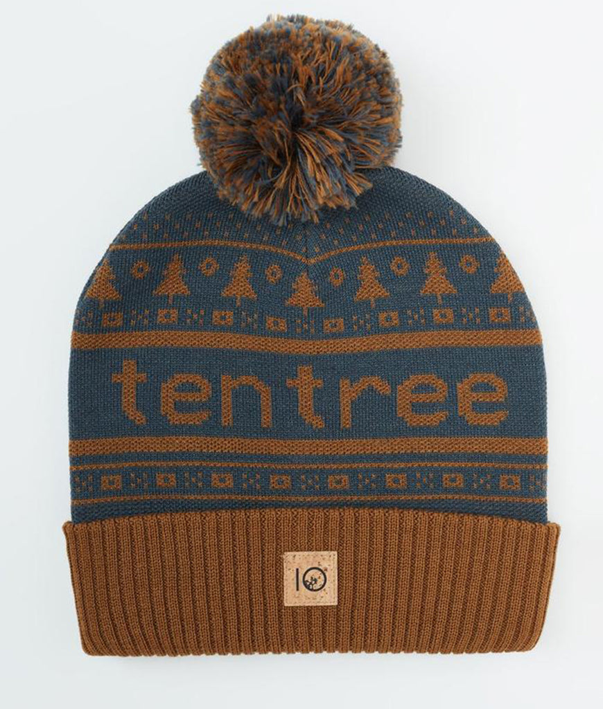 Tentree Cabin Pom Beanie - Rubber Brown