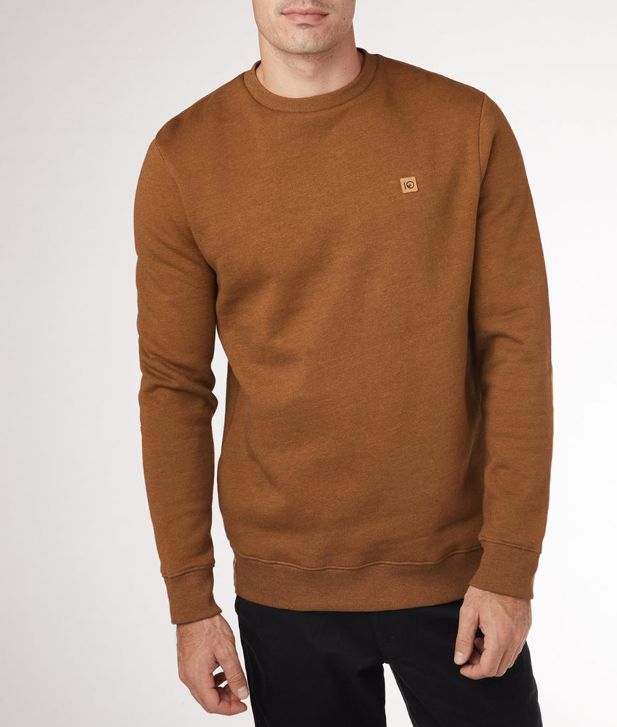 Tentree Classic Crew - Rubber Brown Heather