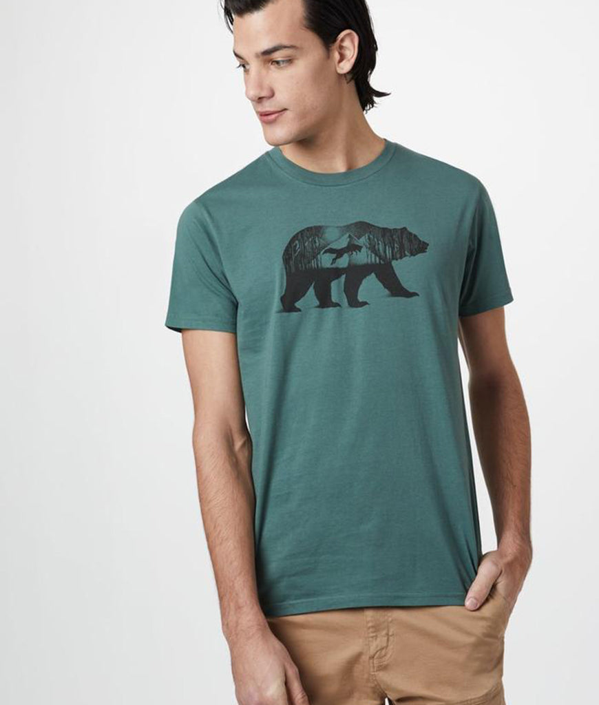 Tentree Den Cotton Classic T-Shirt - Forest Green