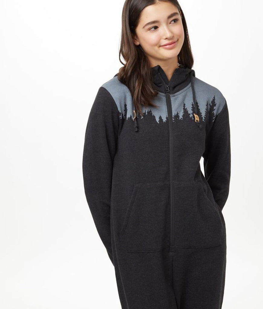 Tentree Unisex Juniper Onesie - Meteorite Black Heather