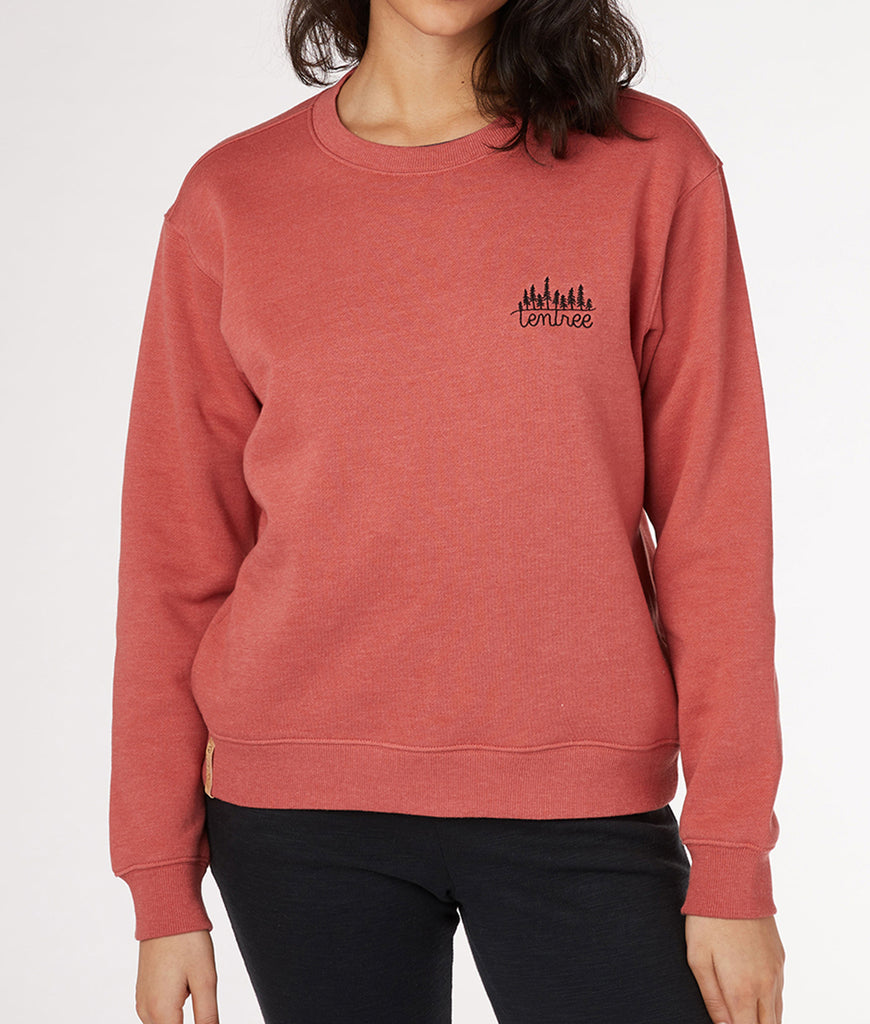 Tentree Long Sleeve Crew - Mineral Red Heather