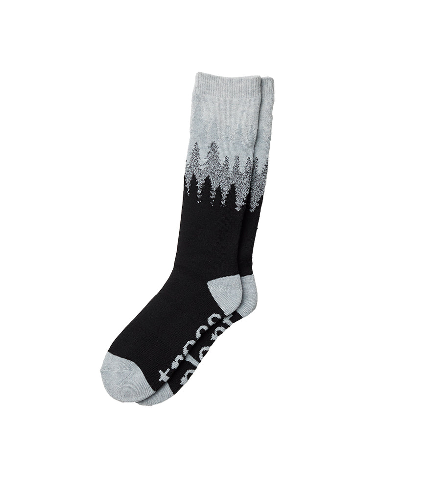 Tentree Selkirk Juniper Knit Socks - Meteorite Black