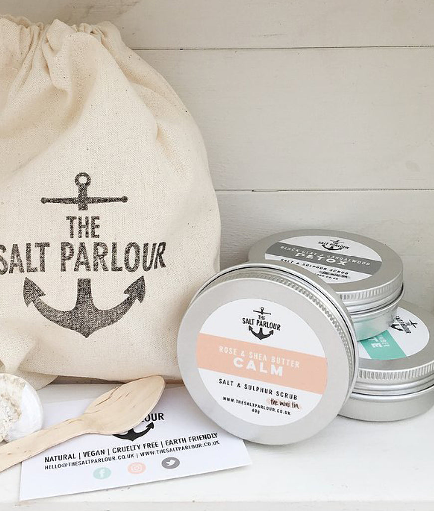 The Salt Parlour Black Clay & Vanilla DETOX - MINI 60g