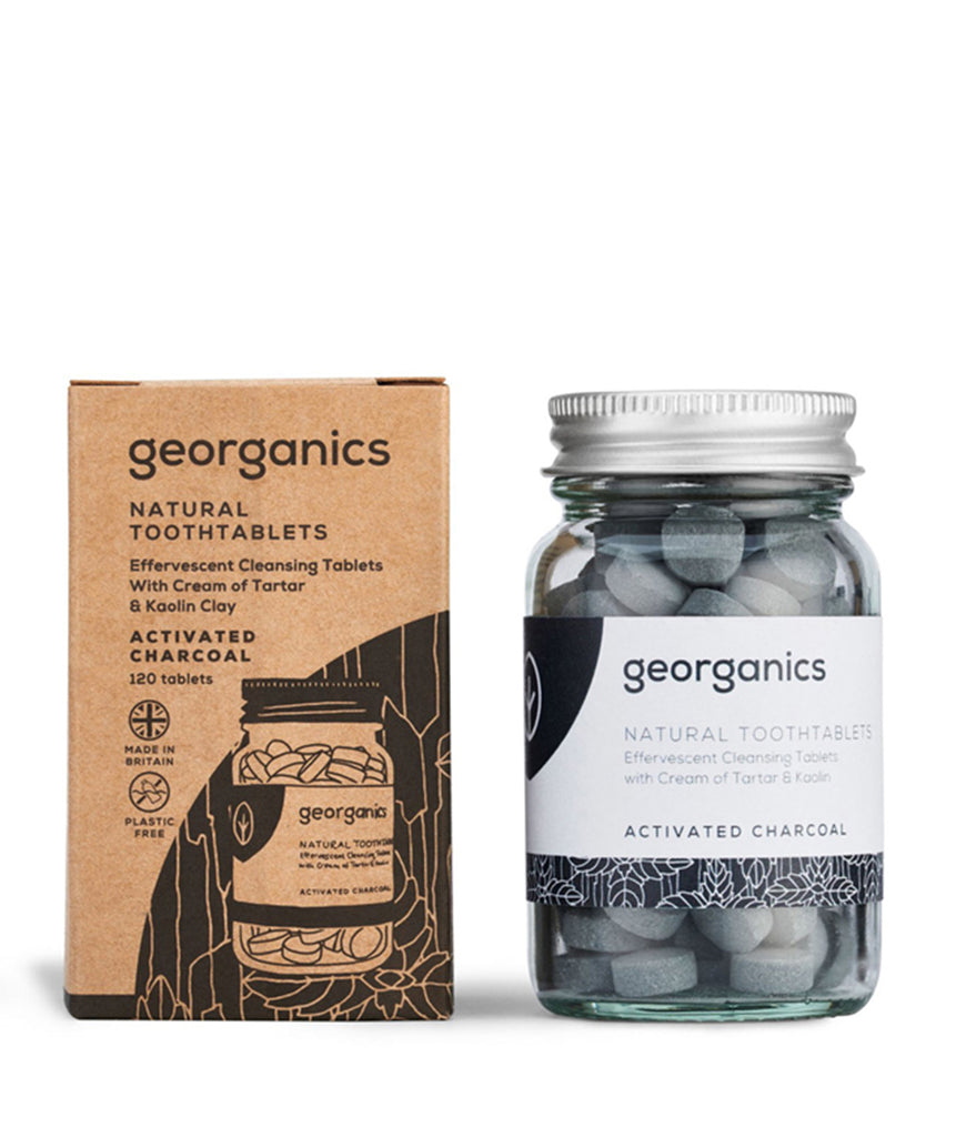 Georganics Toothpaste Tablets Activated Charcoal - x120