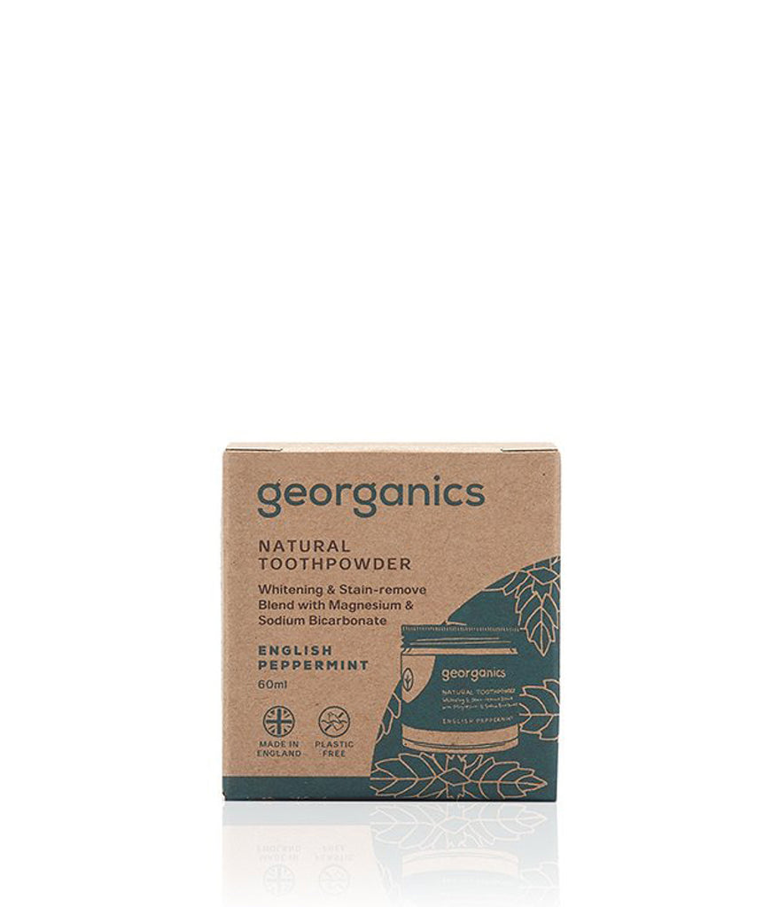 Georganics Toothpowder English Peppermint - 60ml