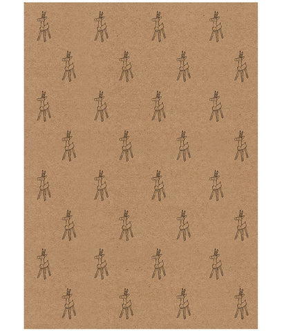 Wrapped By Alice Christmas Wrapping Paper x1 Sheet - Toy Reindeer