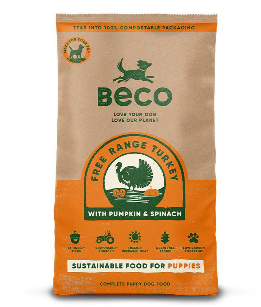 Beco Free Range Turkey with Pumpkin & Spinach | Puppy Food - 2KG