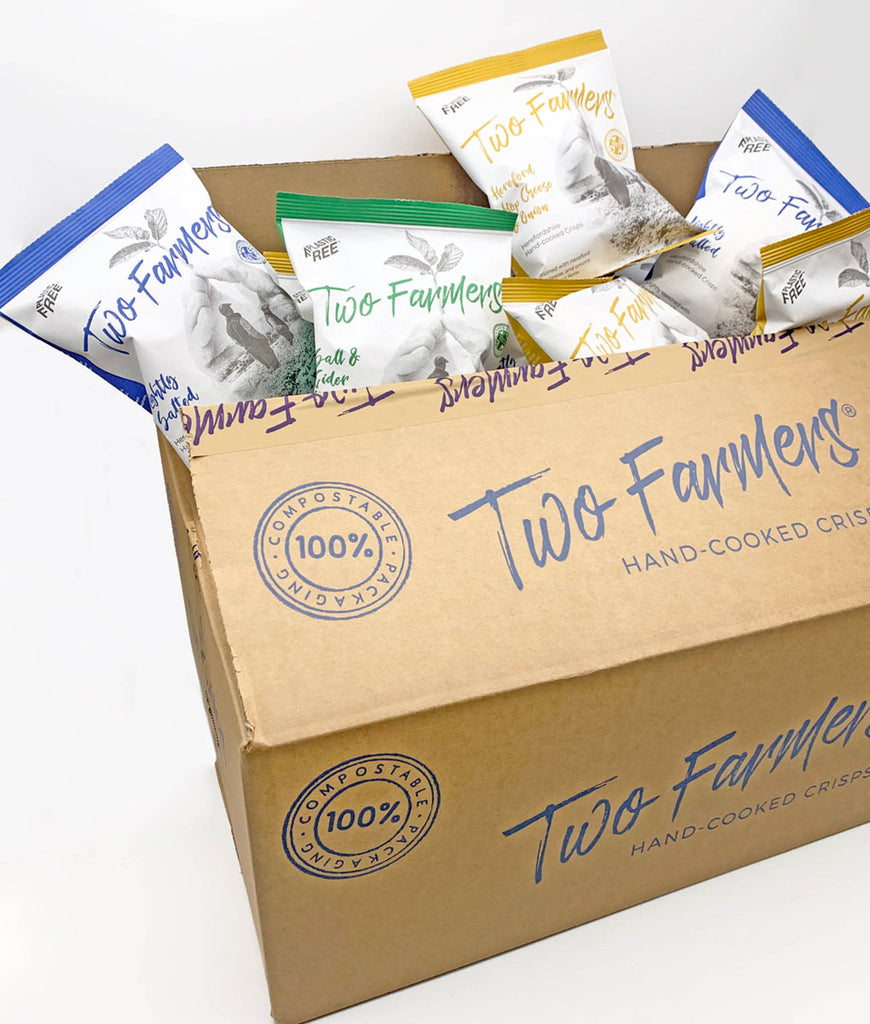 Two Farmers Crisps Lightly Salted Box - 12 x 150g