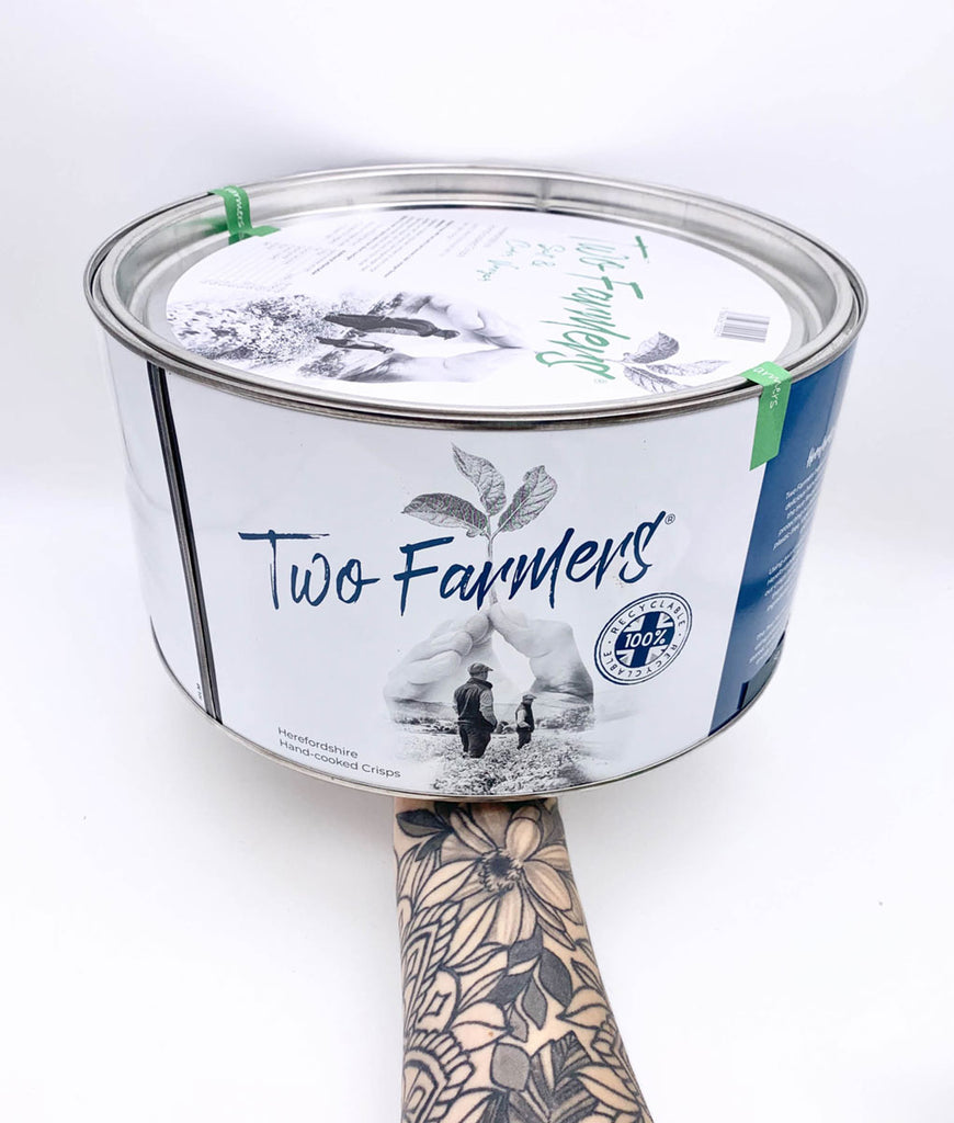 Two Farmers Crisps Lightly Salted Tin - 500g