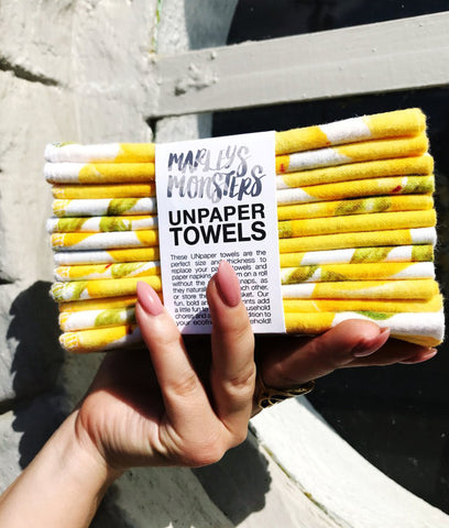 Marley's Monsters Unpaper Towels Vintage Lemons - x6 Pack