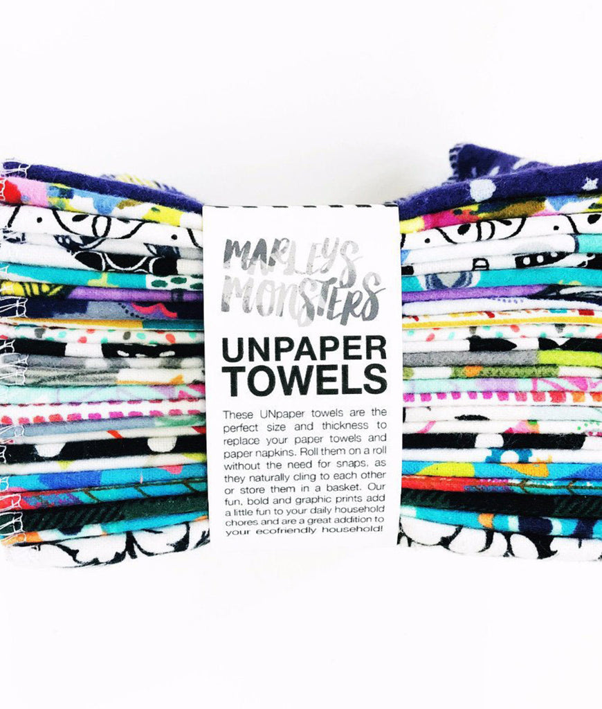 Marley's Monsters Unpaper Towels Mixed Prints - x12 Pack