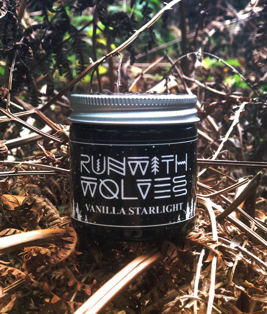 Run With Wolves Soy Wax Candle Vanilla Starlight - MINI 60ml
