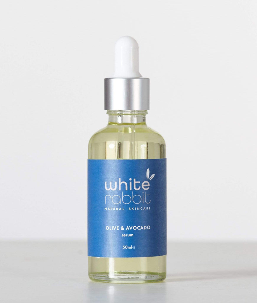 White Rabbit Skincare Olive & Avocado Cell Renewal Serum 50ml - Pipette Lid