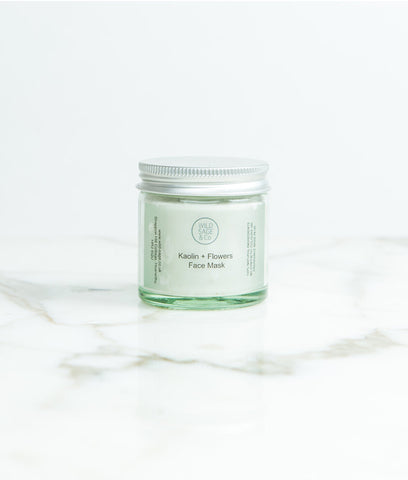Wild Sage + Co Kaolin & Flowers Face Mask - 30g