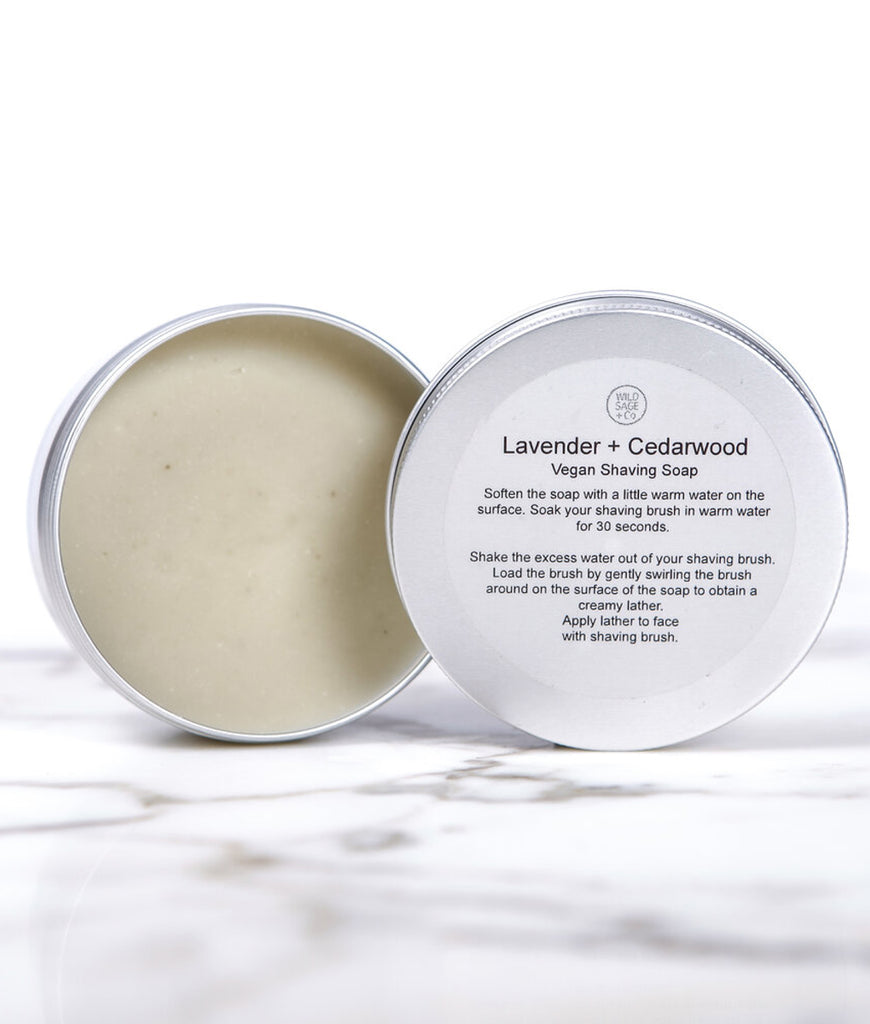 Wild Sage + Co Lavender & Cedarwood Shaving Soap - 150ml