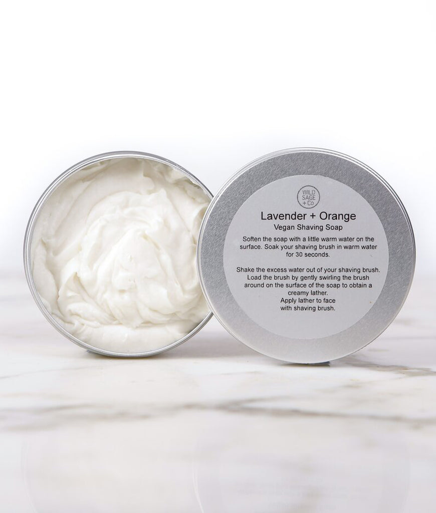 Wild Sage + Co Lavender & Orange Shaving Soap - 150ml