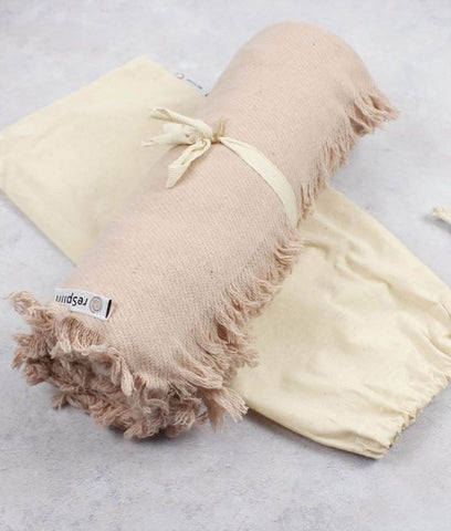 ReSpiin Plain Recycled Wool Throw - Dusty Pink