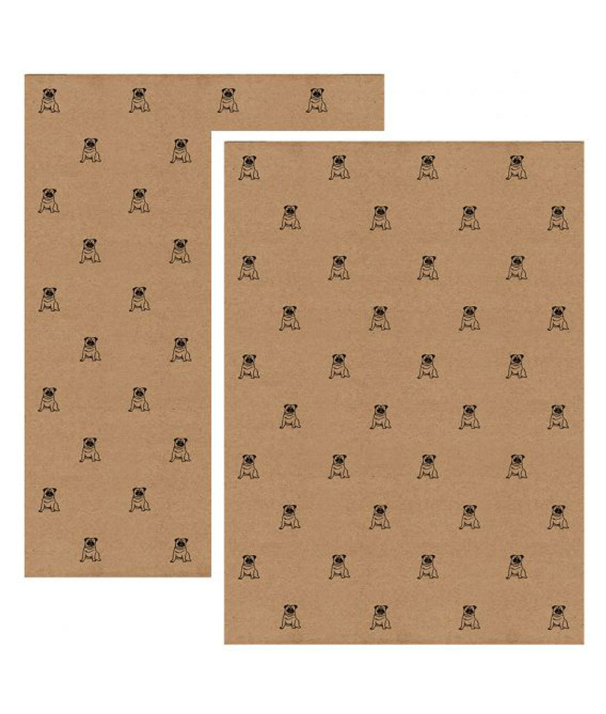 Wrapped By Alice Wrapping Paper x1 Sheet - Pug