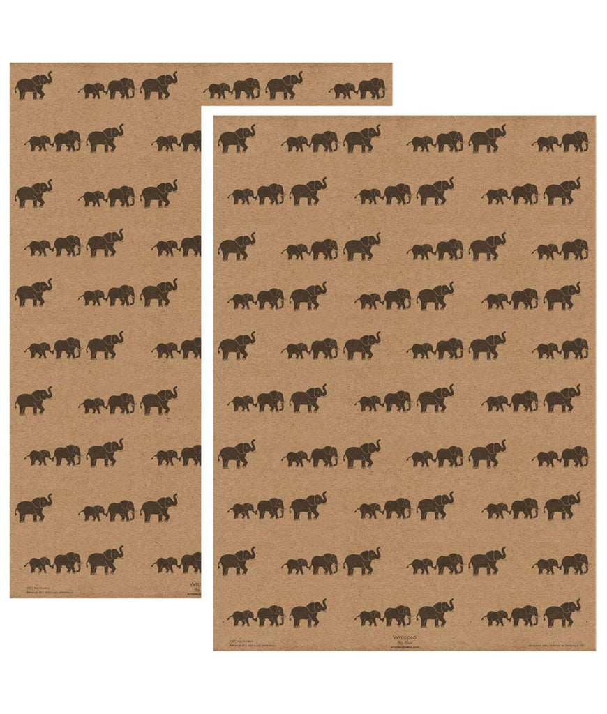 Wrapped By Alice Wrapping Paper x1 Sheet - Elephant