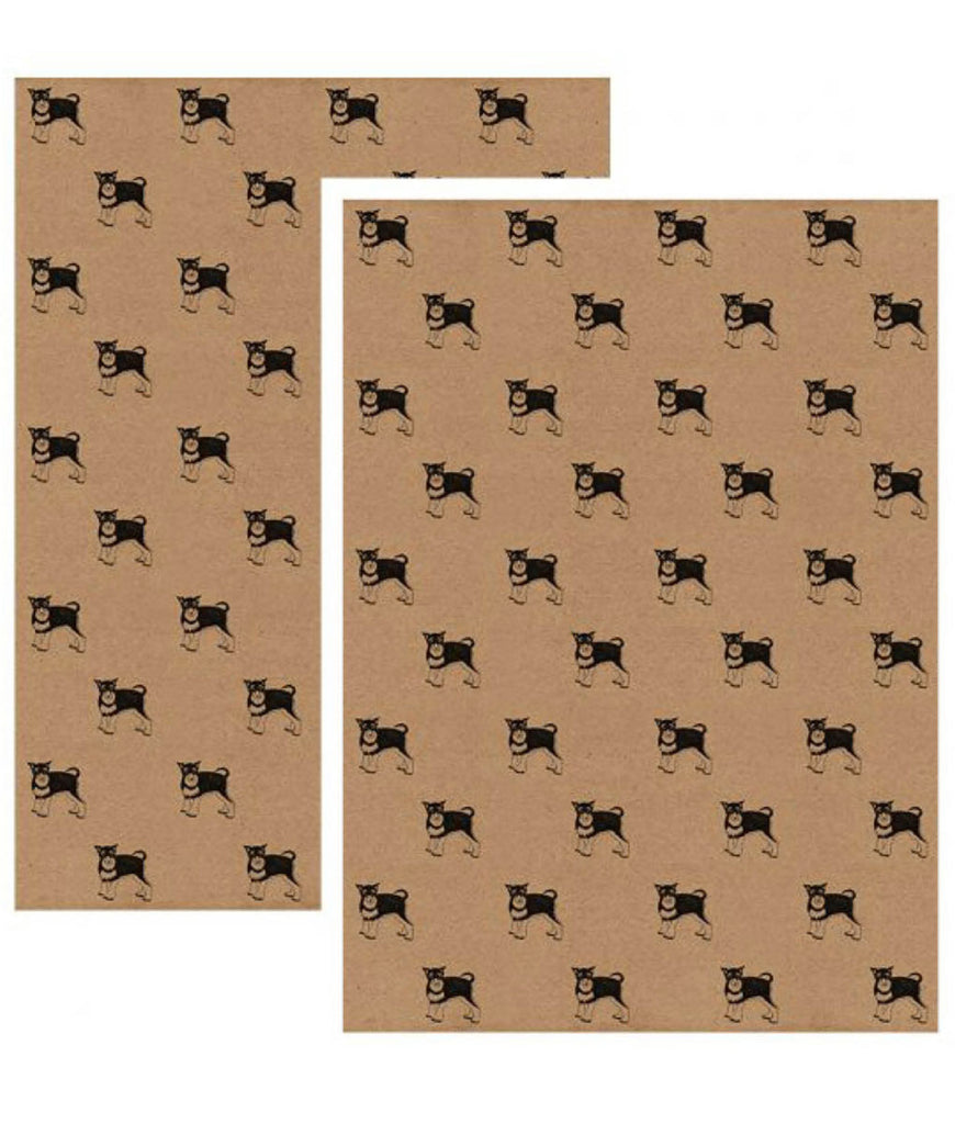 Wrapped By Alice Wrapping Paper x1 Sheet - Schnauzer