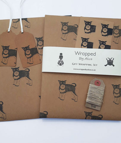 Wrapped By Alice Wrapping Set - Schnauzer
