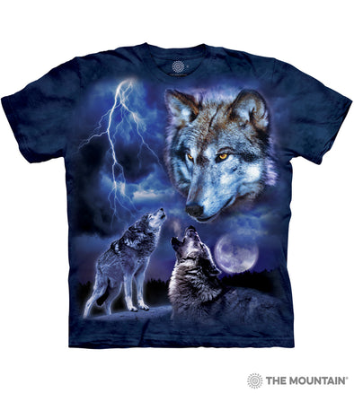 The Mountain Adult Unisex T-Shirt - Wolves of the Storm