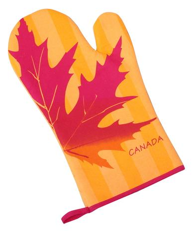 Maple Leaf Silhouette Oven Mitt