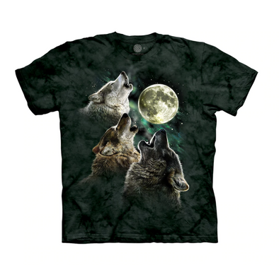 The Mountain Kids' T-Shirt - Three Wolf Moon
