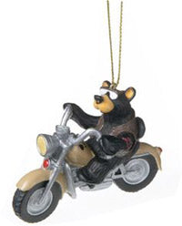 Christmas Ornaments - Bear on Harley