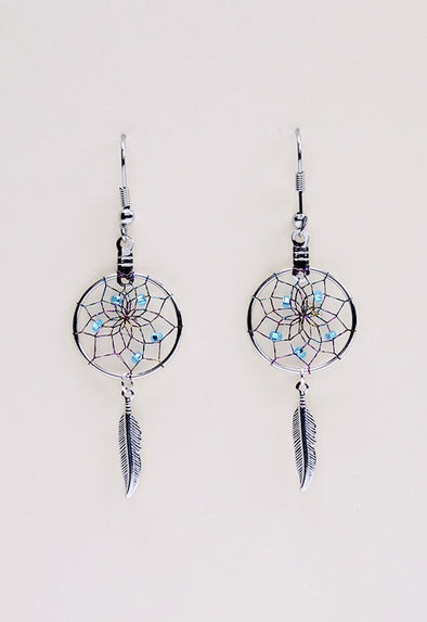 DC15M-P D/C EARRINGS FEATHER MON