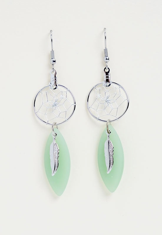 DC1603- -SEAGLASS EARRINGS  MON01