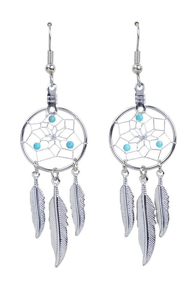 DC1712 -EARRINGS-TURQUOISE  MON01