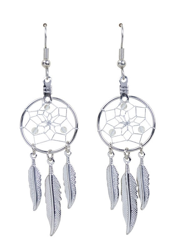 DC1704 -EARRINGS-CLEAR QUARTZ  MON01