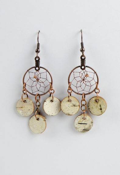 "BB1-3/4"" COPPER D.C. EARRING  MON01"