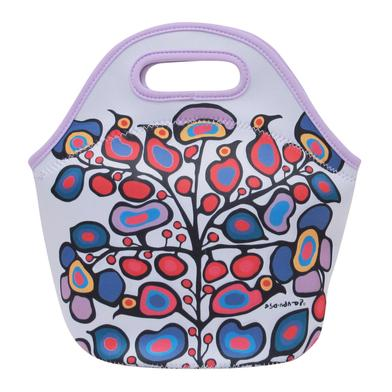 Floral Insulated Lunch Bag by Norval Morrisseau