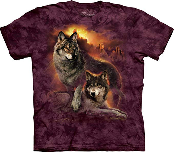 The Mountain Wolf Sunset T-Shirt