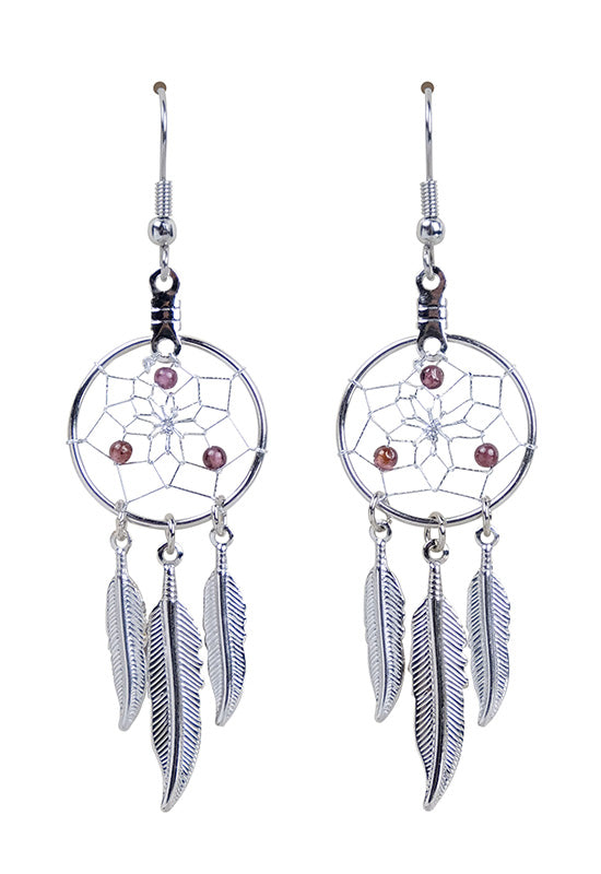 DC1701 -EARRINGS-GARNET  MON01