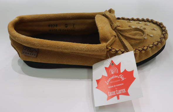 Youth Mocassin Indian Tan -Style 8538