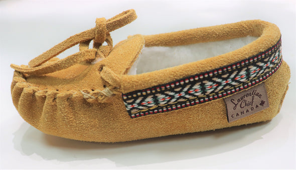 KIDS' INDIAN TAN MOCCASIN -STYLE 798