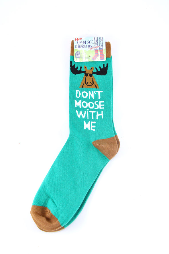 Don't Moose With Me Men's Crew Sock