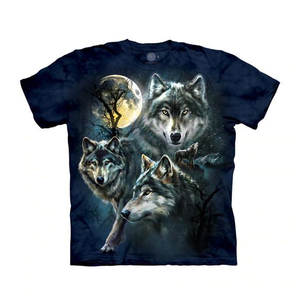 Kids Unisex T-Shirt Moon Wolves Collage