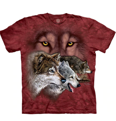 Kids T-Shirt Find 9 Wolves